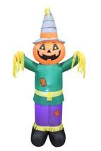 6 Foot Tall Halloween Thanksgiving Inflatable Pumpkin Scarecrow Yard Dec... - $85.00