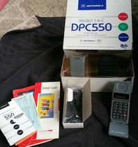 Motorola Micro TAC DPC550 Cellular Phone Original box Manual Vintage Case - $49.49