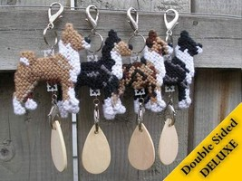 Basenji Deluxe crate tag art, hang anywhere, agility dog show, choose yo... - $20.00