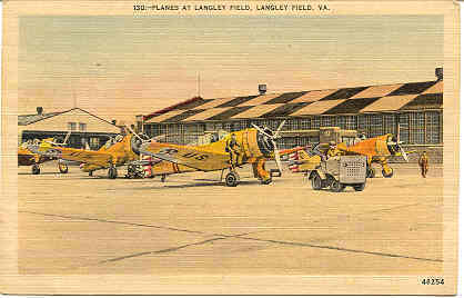 Primary image for Langley Field Virginia Vintage World War 2 Post Card