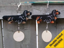 Dachshund Longhaired Deluxe crate tag, decor do... - $20.00