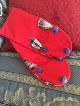Grandmas Estate Hit Mitts Red Two Items Rabbit. Handmade . (FL) - $11.88
