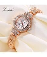 Lvpai® Luxury Watch Women Crystal Rose Gold Classic Bracelet Wristwatch ... - $6.59