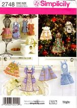 Simplicity 2748 Mini Aprons & Apron Ornament Decorations Pattern - $9.99