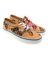 Vans Era Logo Mix Pattern Tangerine Orange Black Sneakers Womens 6.5 / M... - $1.120,16 MXN