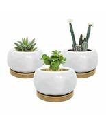 Qiantao Ceramic Pots for Plants, White Round Succulent Planter Pots with... - €11,61 EUR