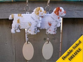 Clumber Spaniel Deluxe dog crate tag, hang anywhere ornament, choose your color - $32.00