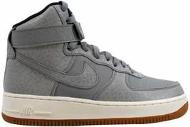 Nike Air Force 1 Hi Premium Wolf Grey/Wolf Grey 654440-008 Women's Size 10 - $110.00