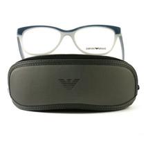 Emporio Armani EA3015 Eyeglasses 5109 Blue/Grey Full Rim Plastic 53 17 140 - $57.00