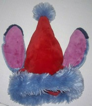 Stitch Christmas Santa Hat Blue Pink Ears Authentic Disney World Lilo and - $188.09