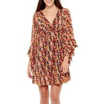 Stella Parker Bell-Sleeve Floral Print Peasant Dress Size 2 MSRP $72.00 New  - $24.99