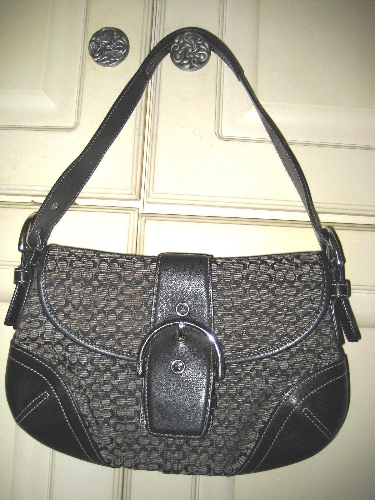 670b83c89aff COACH Black Signature Hobo Handbag Shoulder and 50 similar items. 57