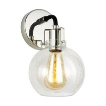 Generation Lighting Light Wall Sconce Polished Nickel/Textured Black Fei... - $54.44