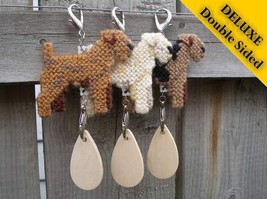 Lakeland Terrier Deluxe crate tag, decor dog ornament art, choose your color - $20.00