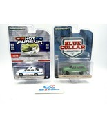 2X GreenLight 1:64 Model Cars: 1995 Ford Crown Victoria + 1988 Chevy Bla... - $19.75