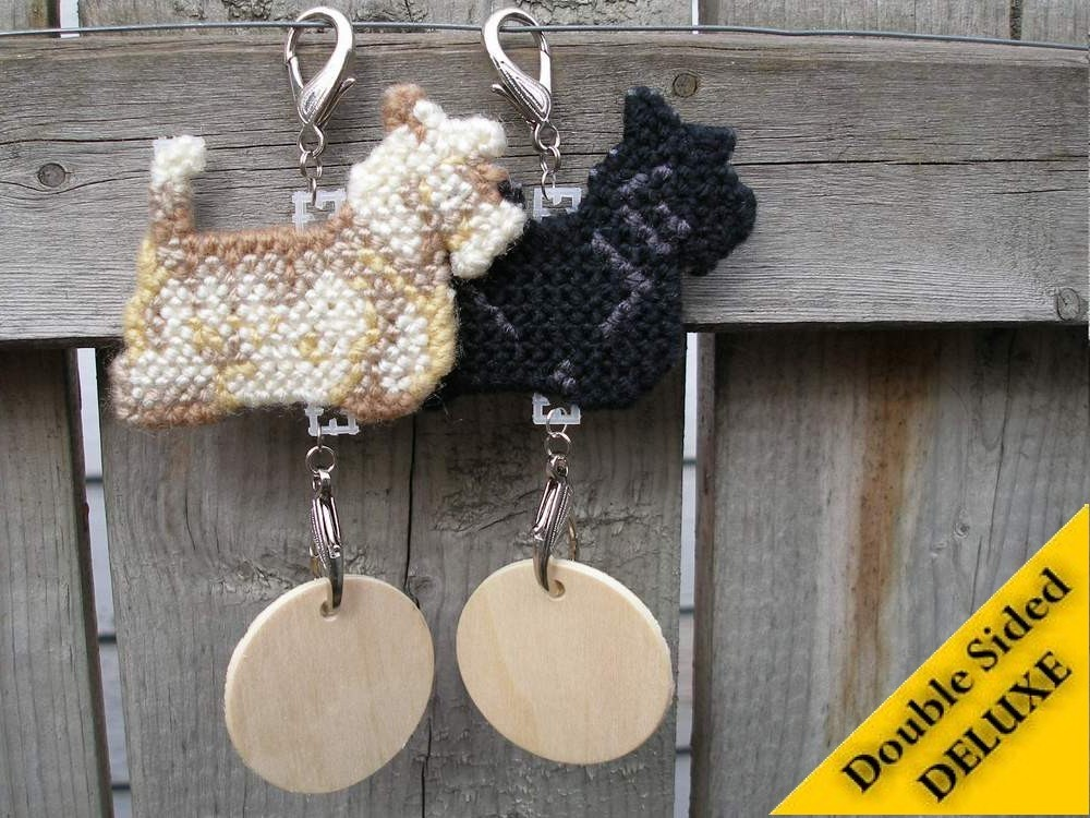 Scottish Terrier Deluxe crate tag, decor dog canine ornament art Pick your color