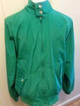 Vintage Mens LANDS END Plaid Lined Windbreaker Jacket Coat L Large - $12.86