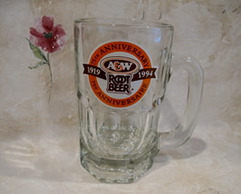 A&W ROOT BEER MUG 75 ANNIVERSARY 1919 - 1994 CANADA EDITION Souvenir Col... - $19.95