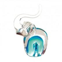 Elephant Figurine Decor, Art Glass Indoor Colorful Elephants Figurines - $24.59