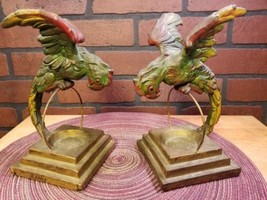 1920's Armor Bronze Company Parrot Bookends Sculptures Ashtrays Signed B... - $789.85
