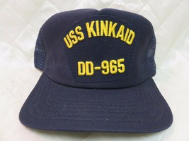 USS Kinkaid DD-965 Hat Navy Blue Adjustable Hat Military Collectible Cap... - $14.55