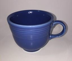 Homer Laughlin Fiesta Flat Cup Blue Mug - $14.01