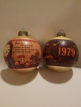 2 vintage 1979 Hallmark Christmas ball  Ornaments - $30.20