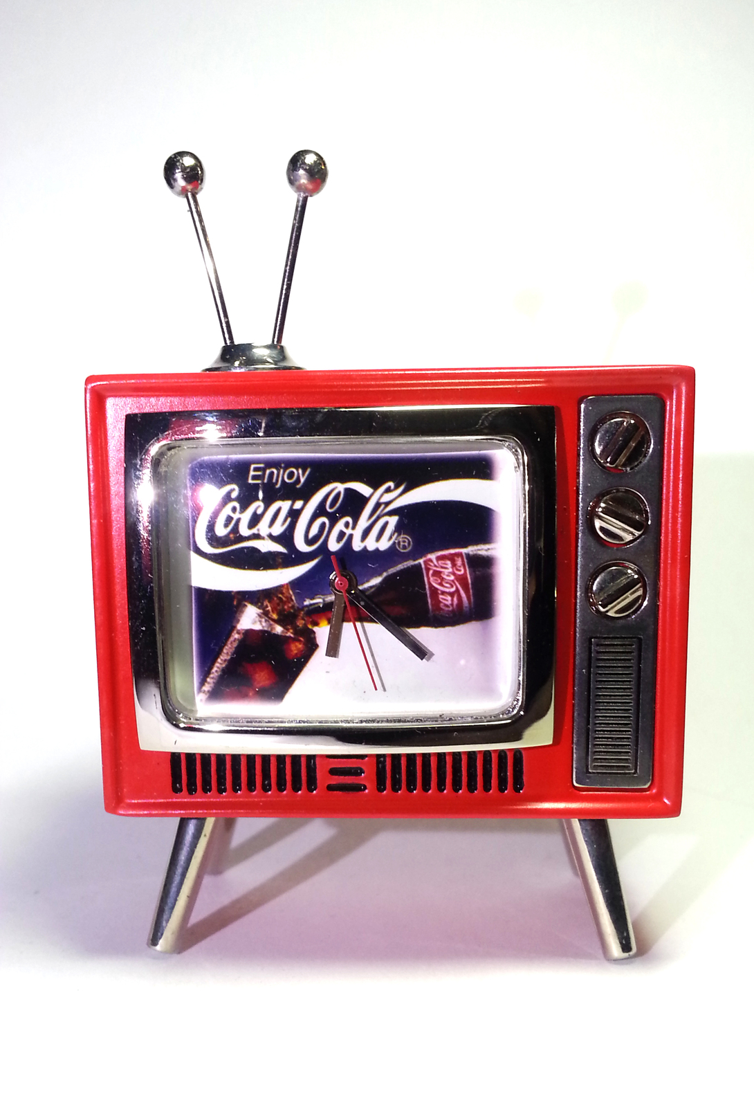Coca Cola Mini Tv Shaped Desk Clock Enjoy Tested Works