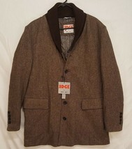 EDGE by WD.NY Mens Slim Fit XL wool blend shawl collar Top Over Coat Tweed - $69.74