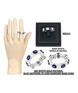 4.06 Ct Diffusion Natural Sapphire 1.10 Ct Diamond Ring in 18K Gold - $3,202.64