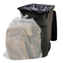 64 Gallon Trash Bags for Toter (Clear, 100 Garbage Bags Per Case) - $49.50