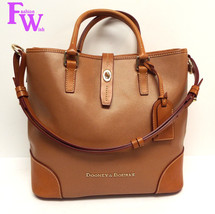 DOONEY & BOURKE SHELBY SHOPPER Brown Tote Shoulder Bag w/ Coin purse - $184.00