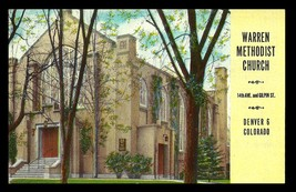 Warren Methodist Church Postcard Colorado Denver Advertising CO PC - $14.99