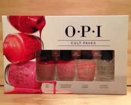 OPI Cult Faves Collections Mini Nail Polish Lacquer 4 Piece Set Reds New TM - $9.89