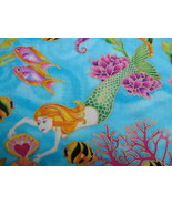 Mermaid metallic fabric Seahorse fish Fantasy B... - $30.00