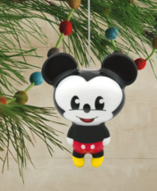 Hallmark Disney Mickey Mouse Decoupage Christmas Ornament New with Tag image 4