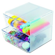 Deflecto Stackable Cube Organizer, Desk and Craft Organizer, 4 Drawers, ... - $18.99