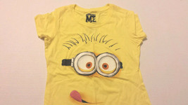 Despicable Me Girls Tee Shirt Sz S 6-6X Yellow Kids New - $10.99