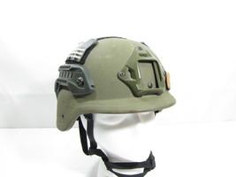 Converted Unicor PASGT Ballistic Helmet Rails NVG Shroud Team Wendy Harn... - $122.49