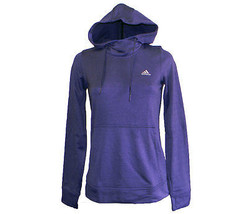 Adidas Women's Climawarm Transit Light Weight Fleece Hoody Sz L NOBINK / PURPLE - $21.67