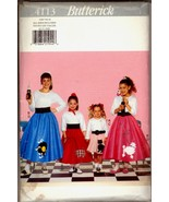 Unc 7 8 10 12 14 Girls Poodle Scotty Cat Skirt Petticoat Butterick 4113 ... - $6.99