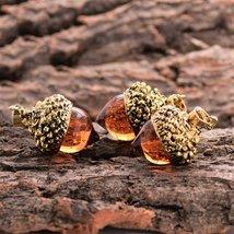 1 Pcs Glass Acorn Pendant Necklace - $12.75