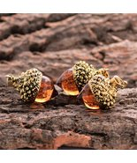 1 Pcs Glass Acorn Pendant Necklace - $12.75