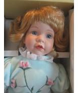 "Seymour Mann Connoisseur Collection doll; POLLY, BLONDE HAIR BLUE EYES 14"" - $40.10"