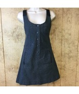 Charlotte Ronson Button Front A-Line Leather Combo Jumper Dress Size 4 $215 - $39.59