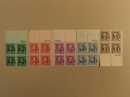USPS Scott 859-63 1940 American Authors Lot Of 5 Plate Block 20 Stamps - $86.16