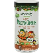 MacroLife Naturals Jr. Macro Coco-Greens for Kids Chocolate - 14 oz - $39.99