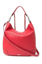 Rebecca Minkoff Red Slim Regan Pebbled Leather Hobo Bag NWT - $296.01