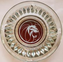 "Vintage MGM Grand Hotel Las Vegas 'Lion'  4-1/2"" x 1"" tall clear Glass Ashtray - $14.95"
