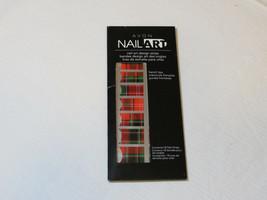 Avon Nail Art design strips 18 nail strips nail I743 Totally Tartan French tip - $16.82